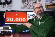 20.000 iscritti su YouTube!